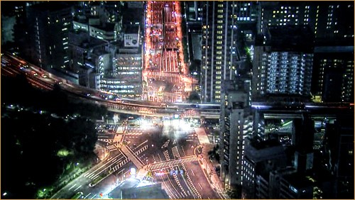Intersection of Tokyo night