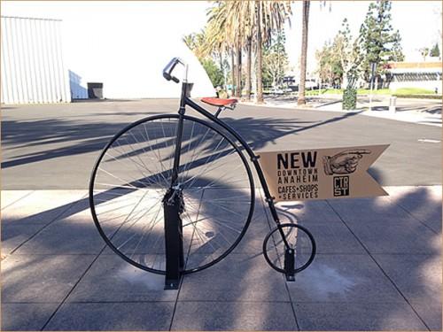 前輪駆動式自転車操業型バイシクルの看板