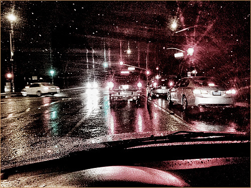 Rainy day in California