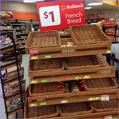 Walmart $1.00 rollback french bread