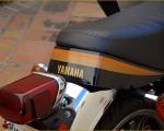 1980年型 ヤマハSR400 SR500 初期型のオレンジとゴールドのカラーデザイン