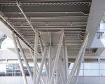 Complex steel frame