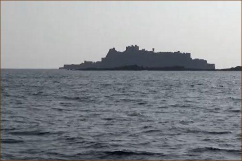 Hashima is called a battleship island in Nagasaki JAPAN