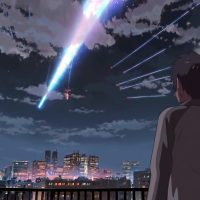 Anime movie YOUR NAME real life location scenes in Tokyo