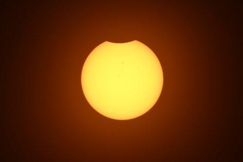 2017年8月21日南カリフォルニアの部分日食