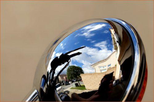 ヤマハSR400とSR500の風景 南カリフォルニアの青空