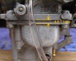 【1980年式北米ヤマハSR500】ノーマルVMキャブレタータンク燃料液面の高さ確認